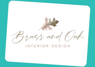 Brass and Oak Interior Design
